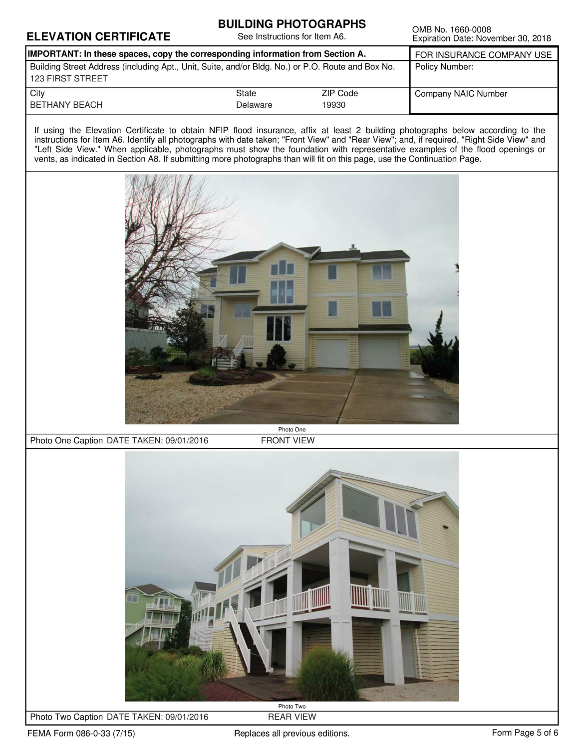 Elevation certificate simpler surveying associate elevation certificate example 1betcityfo Gallery